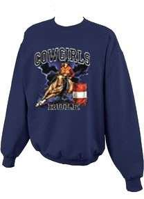 Cowgirls Rule Barrel Racer Racing Rodeo Sweatshirt S 5x