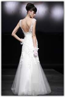 backless sweetheart custom bridal Wedding Dress evening gown ball prom