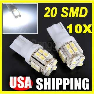 194 168 501 Car White 20 SMD LED Inverted Side Wedge Light Bulb 12V