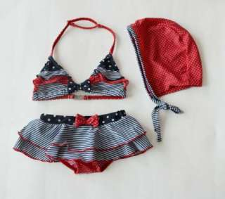 Girls Baby Bikini Swimsuit Swimwear Bathers 1 8Y Set