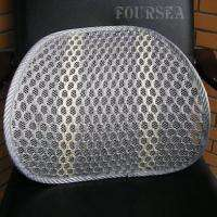 NEW MESH BACK LUMBAR SUPPORT CUSHION SEAT CHAIR FOR CAR HOME OFFICE