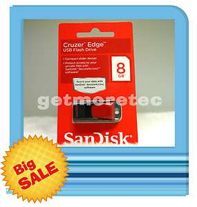 PC SANDISK CRUZER EDGE 8GB USB JUMP / THUMB / PEN FLASH DRIVE