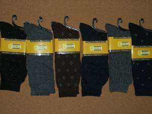 Fathers Day Gift 6 Pair Mens Dress Argyle Socks Size 10 13