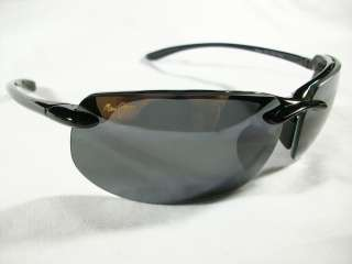 BANYANS MJ 412 02 GLOSS BLACK NEUTRAL GREY SPORT POLARIZED SUNGLASSES