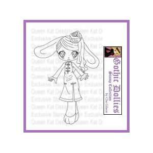 Cabbage Bunny Unmounted Rubber Stamp
