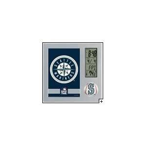 MLB Seattle Mariners Team Desk Clock