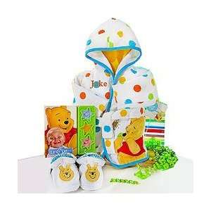 Winnie The Pooh Bath Gift Set for Boys by Baby Gift Basket Baby