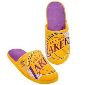 LOS ANGELES LAKERS OFFICIAL LOGO PLUSH SLIPPERS SIZE L