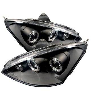 2000 2002 Ford Focus LED Halo Projector Headlights (Black