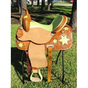 Western Barrel Racing Pleasure Trail Leather Saddle
