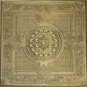 R 30 Styrofoam Ceiling Tile 20x20   Antique Brass