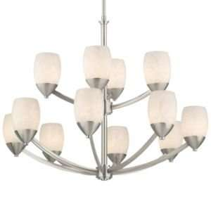 Chandelier by Thomas Lighting  R277928 Finish Brushed Nickel Shade