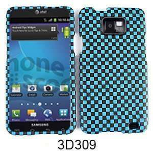 ATTAIN I777 TEXTURED BLUE BLACK CHECKERS Cell Phones & Accessories