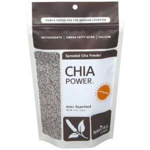 Navitas Naturals Sprouted Chia Seed Powder, Aztec Superfood 8oz