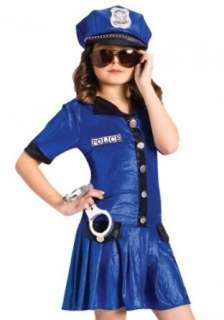World Girls Police Officer Cute Kids Cop Halloween Costume Clothing