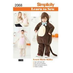 Simplicity Sewing Pattern 2068 Learn To Sew Toddlers Costumes