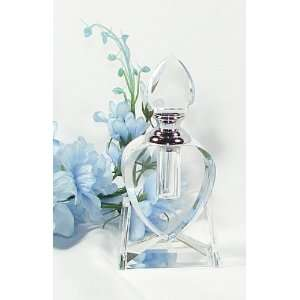 Heart Shaped Crystal Perfume Bottle with Glass Applicator Beauty
