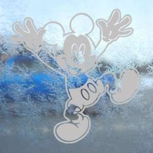 MICKEY MOUSE DISNEY Gray Decal Car Truck Window Gray