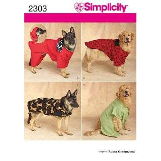 Simplicity sewing pattern 2303 Dog Clothes. For large and extra large