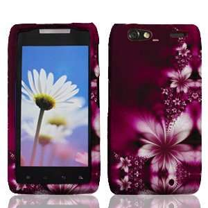Motorola Droid RAZR Maxx XT916 XT 916 Rose Red Floral Flowers Design