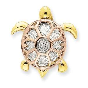 14k Tri color Turtle Ch Jewelry