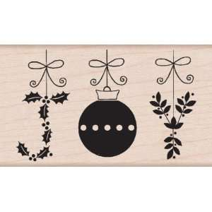 Joy Ornaments Wood Mounted Stamp (Hero Arts) Arts, Crafts