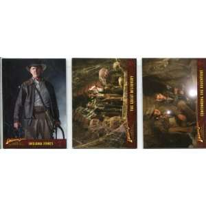 Indiana Jones Heritage Trading Cards Complete 3 Card Boxtopper Chase
