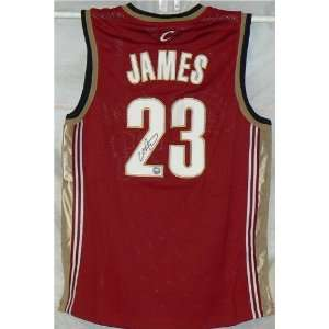 LeBron James Autographed/Hand Signed Cavaliers Jersey #1