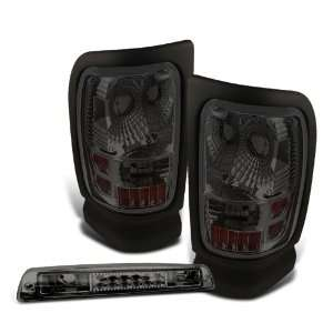 94 01 Dodge Ram Smoked Tail Lights + LED 3rd Brake Light Automotive