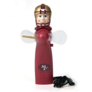 Pack of 5 NFL San Francisco 49ers Magical LED Light Up Portable Fans