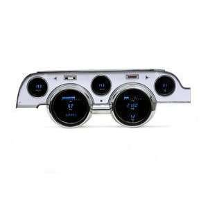 67 Ford Mustang Brushed Aluminum Bezel   Gauge Kit
