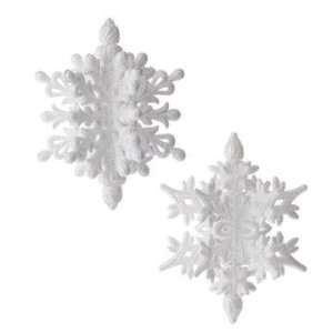 White Iridescent Glitter Snowflake Christmas Ornament