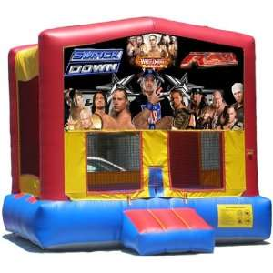 WWE Bounce House Inflatable Jumper Art Panel Theme Banner