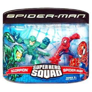 Spiderman Super Hero Squad   Scorpion and Spiderman 2 Pack  Toys