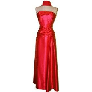 Goddess Strapless Satin Holiday Formal Bridesmaid Gown Prom Dress