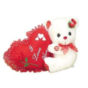 Musical Teddy Bear with I Love You Heart Pillow Toys