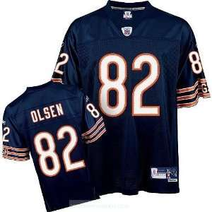 Bears Greg Olsen #82 Navy Blue Throwback Football Jersey Sports
