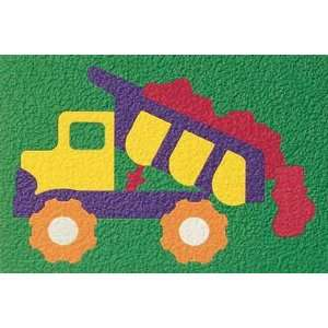 Learning Textured Crepe Rubber Puzzle   19Pcs DUMP TRUCK Toys & Games