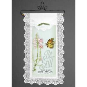 Be Still with Monarch Butterfly Wall Hanging