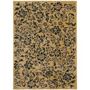 Tommy Bahama Rugs Home Nylon Island Flower Black Contemporary Rug