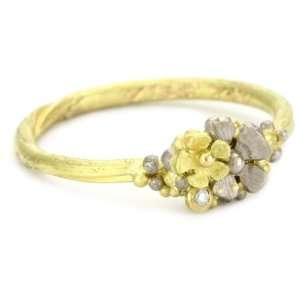 Vibes Fairytale 18 Karat White and Yellow Gold Diamond Ring, Size 6