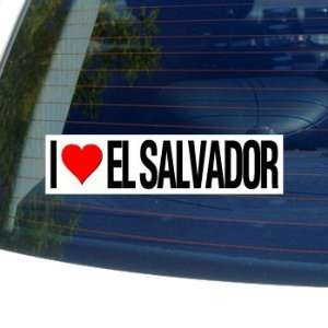 I Love Heart EL SALVADOR   Window Bumper Sticker