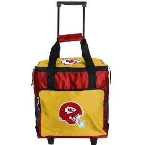 NFL Kansas City Chiefs Red Gold Rolling Collapsible Cooler