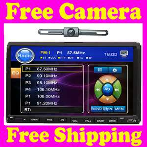 In Dash Double Din Car DVD Player Touch Screen+CAMERA