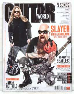 GUITAR PLAYER MAGAZINE SLAYER JEFF HANNEMAN KERRY KING