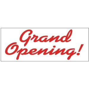 Grand Opening Red Curves Business Banner