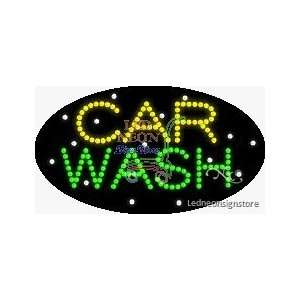 Car Wash LED Business Sign 15 Tall x 27 Wide x 1 Deep