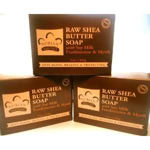 Nubian Raw Shea Butter Soap with Soy Milk, Frankincense & Myrrh (Set