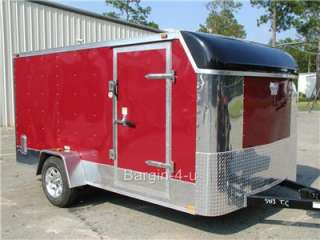 NEW 6x12 6 x 12 Motorcycle Enclosed Cargo Trailer Ramp