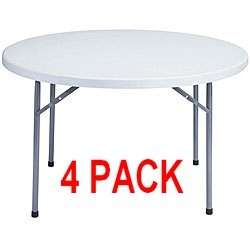 PACK) 48 Commercial Round Plastic Folding Table